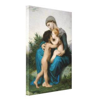 Fraternal Love by William-Adolphe Bouguereau Canvas Print