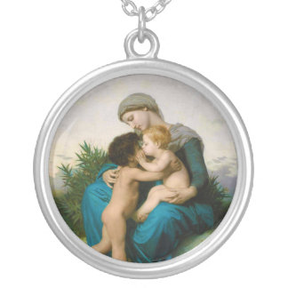 Fraternal Love by William Adolphe Bouguereau Personalized Necklace