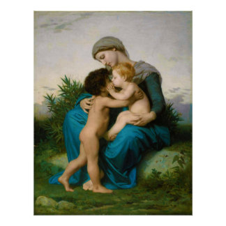Fraternal Love by William Adolphe Bouguereau Poster