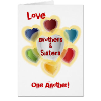 Fraternal Love-Customize Greeting Card