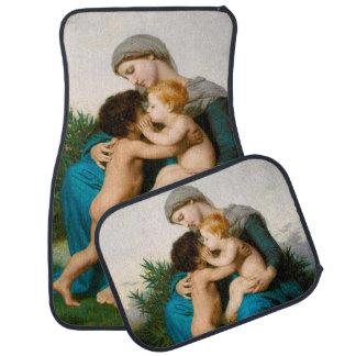 Fraternal Love, Mother with Children by Bouguereau Car Floor Mat