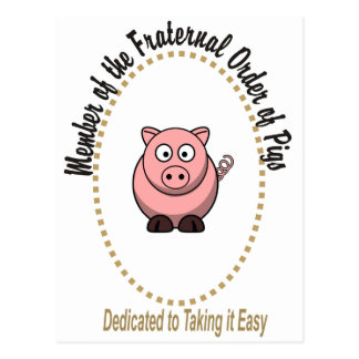 Fraternal Order of Pigs Post Card