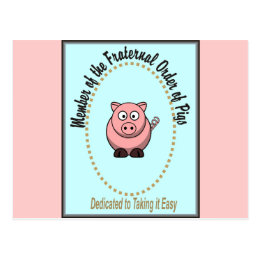 Fraternal Order of Pigs Postcard