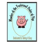 Fraternal Order of Pigs Postcards