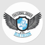 Fraternal Order of The Blue Falcon, Blue Falcon Classic Round Sticker
