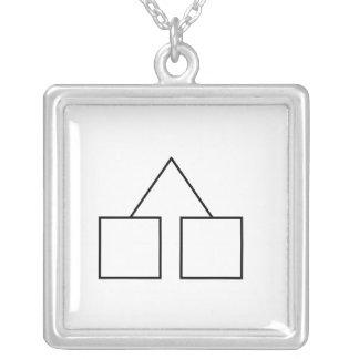 Fraternal Twin Symbol Custom Necklace