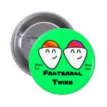 Fraternal Twins Magnet (Green) Buttons