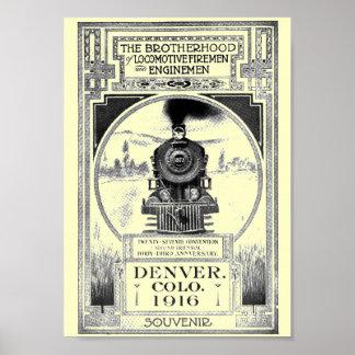 Fraternidad de bomberos locomotores y de póster