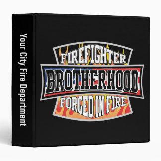 "Fraternidad del bombero carpeta 1 1/2"""