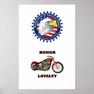 Fraternidad, honor y lealtad póster