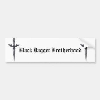 Fraternidad negra de la daga pegatina para coche