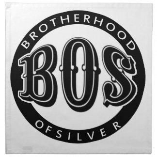 Fraternidad oficial del producto fanático de plata servilleta de papel