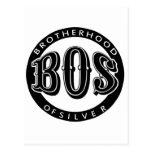 Fraternidad oficial del producto fanático de plata tarjeta postal