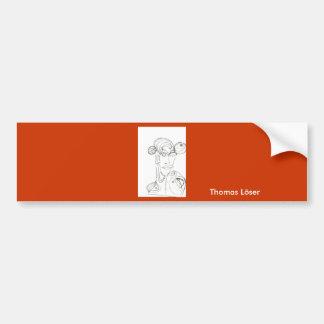 Frau(abstrakt) Car Bumper Sticker