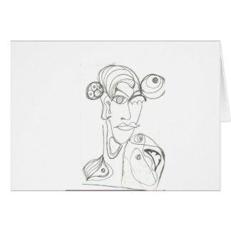 Frau abstrakt card