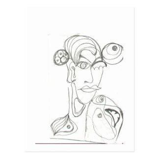 Frau(abstrakt) Postcard
