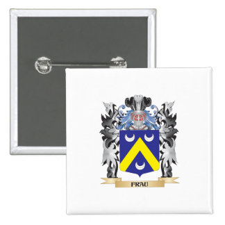 Frau Coat of Arms - Family Crest 2 Inch Square Button