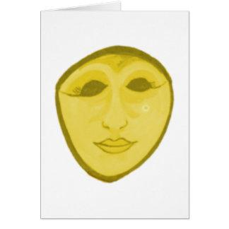Frau Maske woman mask Karte
