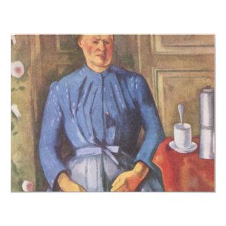 Frau mit Kaffeekanne Card