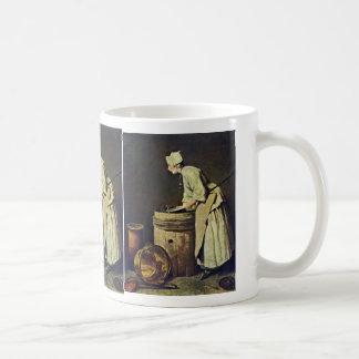 Frau Scrubbing Dishes By Jean-Baptiste Siméon Char Mug