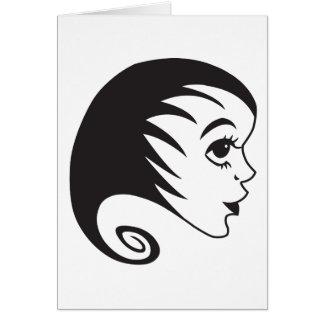 Frau - woman - Haare Karte