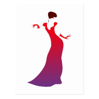 Frau woman postkarten