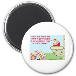 fraud and waste in government 2 inch round magnet
