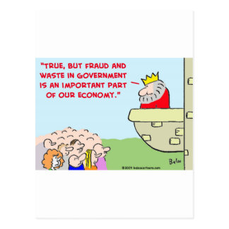fraud and waste in government postcard
