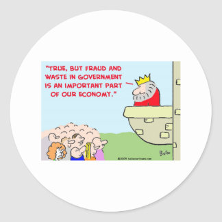 fraud and waste in government sticker