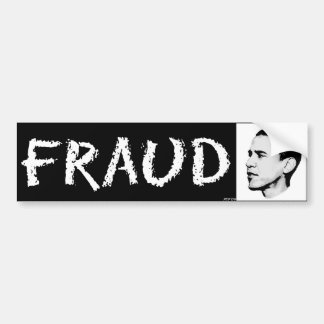 Fraude Pegatina De Parachoque