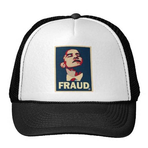 Fraude de Obama Gorras De Camionero