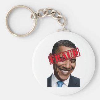 Fraude de Obama Llavero Redondo Tipo Pin