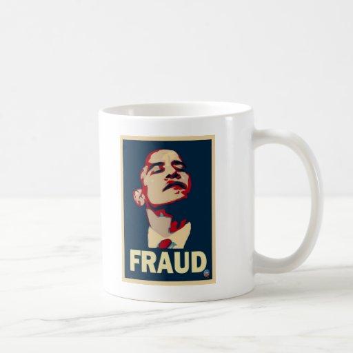 Fraude de Obama Taza Básica Blanca