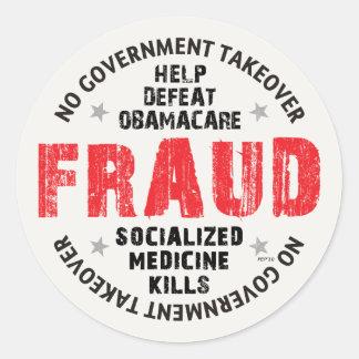 Fraude de Obamacare Pegatinas
