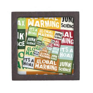 Fraude del calentamiento del planeta caja de joyas de calidad