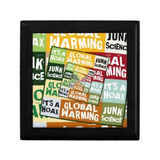 Fraude del calentamiento del planeta joyero cuadrado pequeño