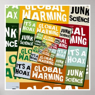 Fraude del calentamiento del planeta póster