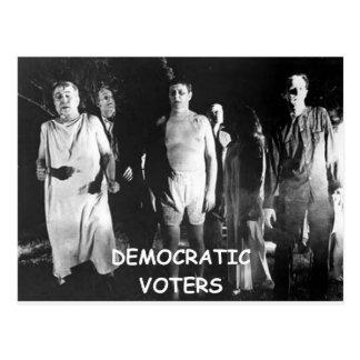 fraude del votante del demócrata tarjeta postal