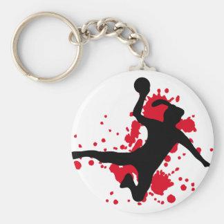 Frauenhandball handball sign basic round button keychain