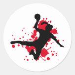 Frauenhandball handball sign classic round sticker