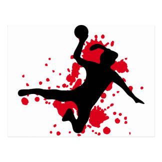 Frauenhandball handball sign postcard