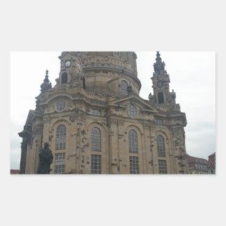 Frauenkirche Dresden Rectangular Sticker