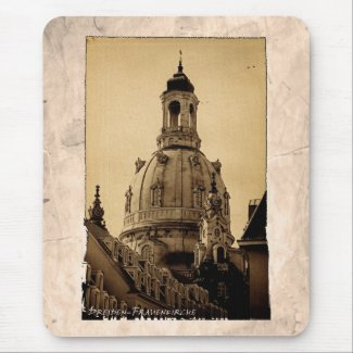 Frauenkirche Dresden - Vintage Mouse Pad