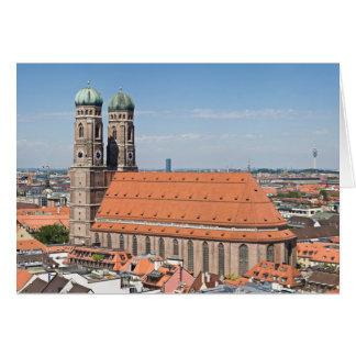 Frauenkirche Munich de Peterskirche Tarjeta De Felicitación