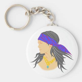 Frauenkopf womans head headband headband basic round button keychain