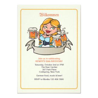 Fräulein Beer Garden Invitation