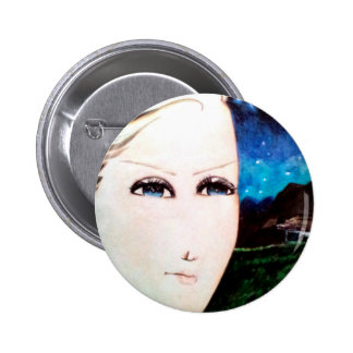 Fraulein Girl 2 Inch Round Button