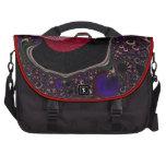 Fravta negro, rojo hermoso bolsas de ordenador