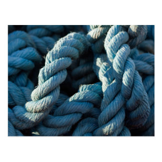 Frayed Blue Rope Closeup Postcard