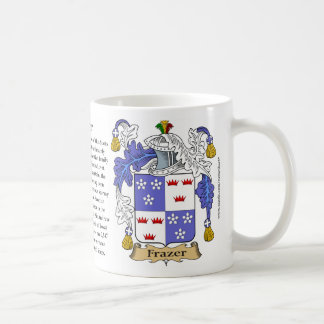 Frazer, the Origin, the Meaning and the Crest Classic White Coffee Mug
